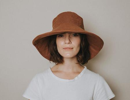 Freya Linen Bucket Hat - Ginger