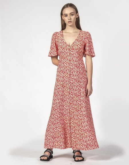 Thing Thing Lyds Dress - Red Ditsy