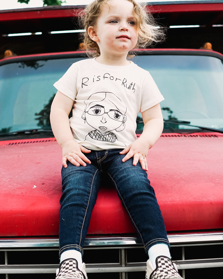 Kids Anchors-n-Asterids R is for Ruth Tshirt - Natural