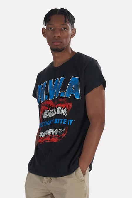 MadeWorn Rock NWA Just Don't Bite It T-Shirt - Coal Pigment