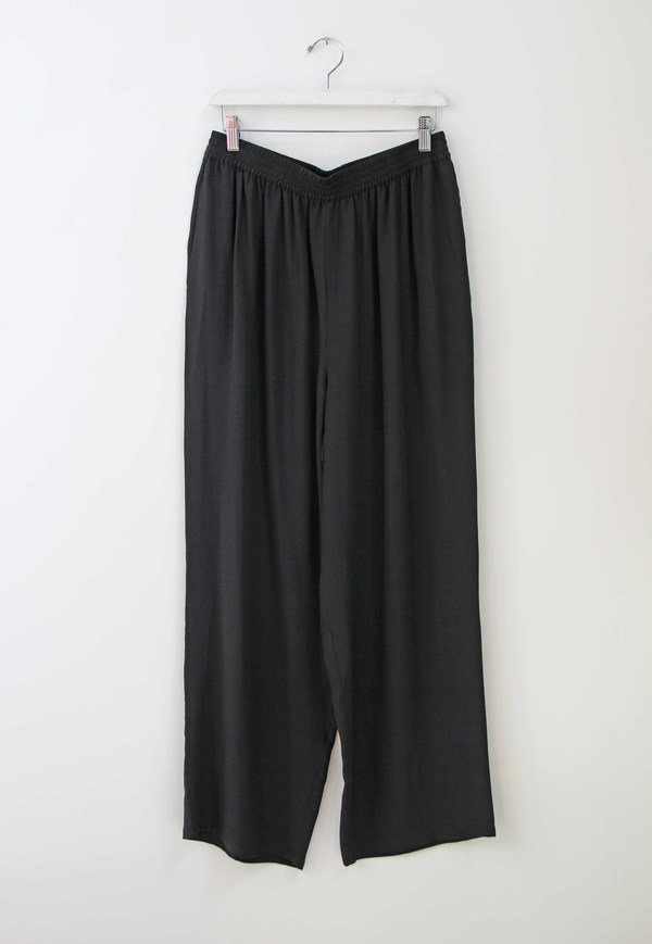 Hey Jude Vintage Onyx Silk Trousers
