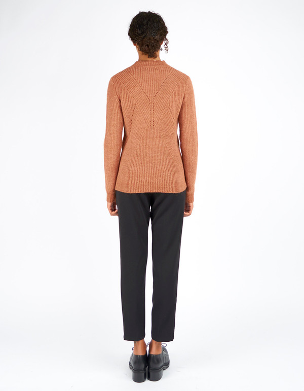 Storm & Marie Gabby Knit Sweater Gingerbread Melange