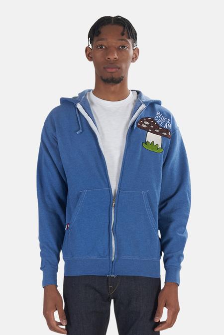 Blue&Cream Blue & Cream Mushroom Hoodie Sweater - blue