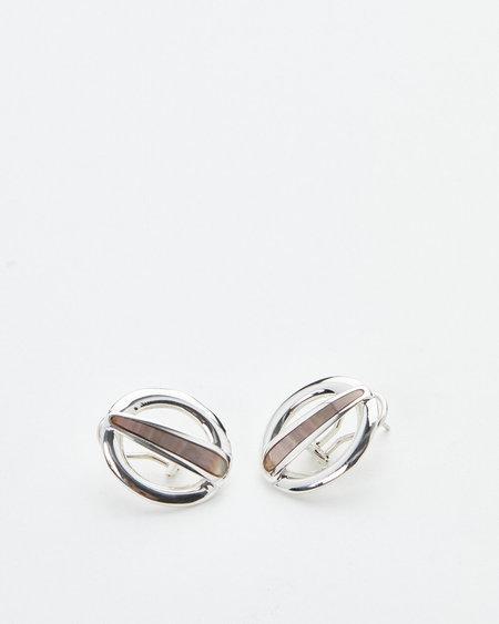 Luz Oritz Pearl Cruz Earrings