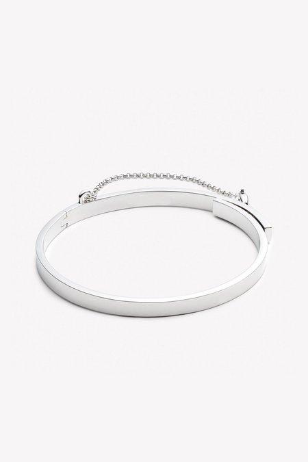 Eddie Borgo Extra Thin Safety Chain Bracelet - Silver