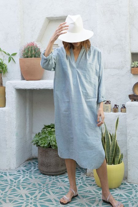 Unisex Two New York Caftan - Indigo