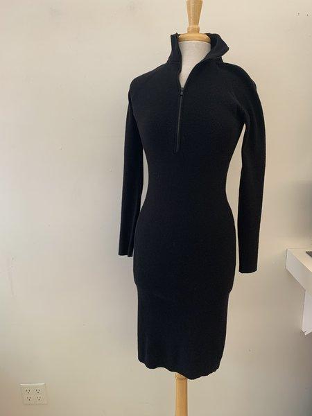 [Pre-loved] Autumn Cashmere Wool Zip Up Dress - Black