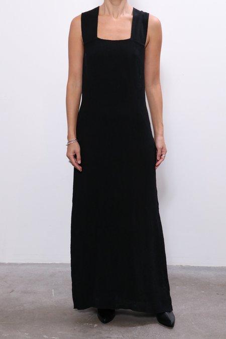 Raquel Allegra Apron Dress -  Black