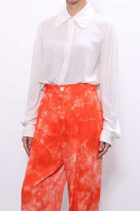 Raquel Allegra Puffed Sleeve Shirt - Dirty White