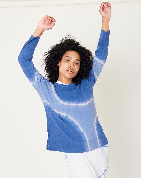 Raquel Allegra Boyfriend Crew - Blue Tie Dye