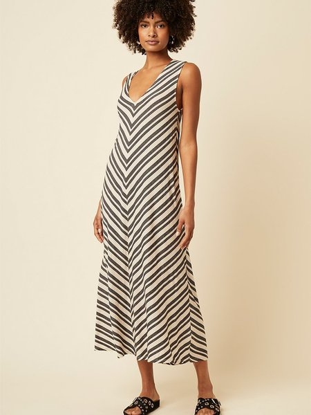 Great Plains Lumi Stripe Dress - Natural/Black