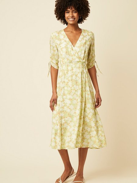 Great Plains Speckle Blossom Dress - Citrus Haze