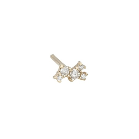 Jennie Kwon Designs Diamond Cluster Studs - 14k Yellow Gold