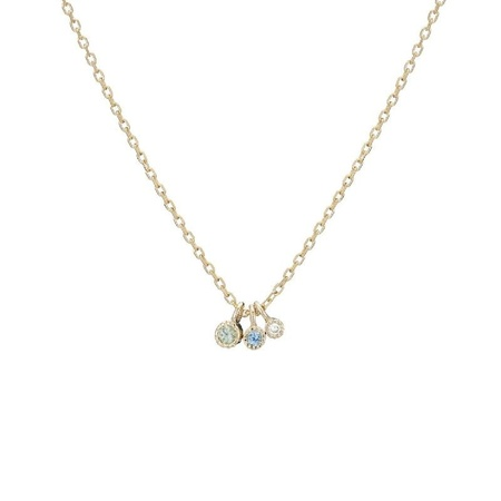 Jennie Kwon Designs Moon Drop Necklace - 14K Gold