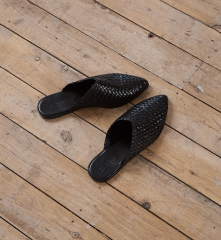 St. Agni caio woven flat - black
