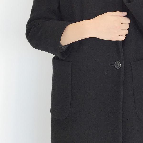 Johan Vintage Black Wool Everyday Coat
