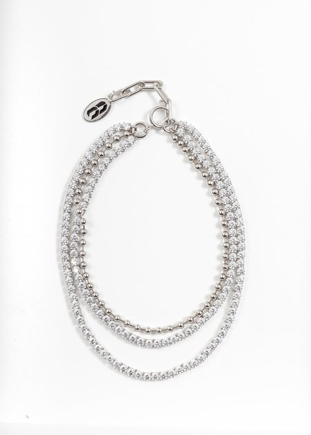 Cha Ching Rhinestone And Ball Link Necklace