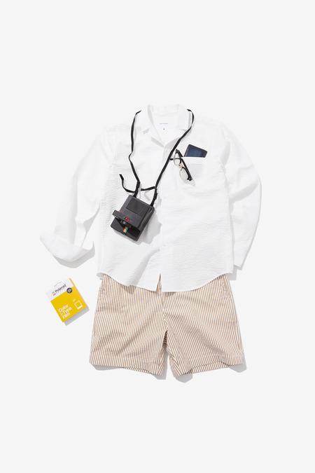 SENTIBONES SEERSUCKER SHIRTS - White