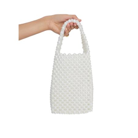 Faithfull The Brand Frederikke Beaded Bag - White Pearl