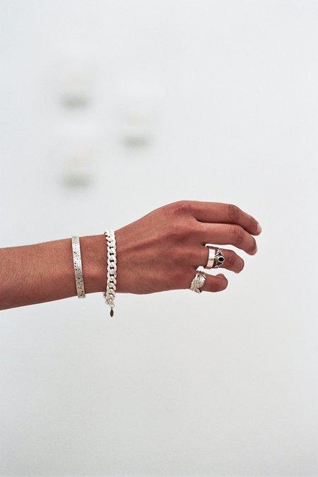The Silver Stone Antique Cuff Bracelet