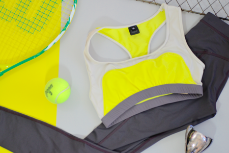 VPL Convexity Swim & Workout Bra Top: Lemon Lime