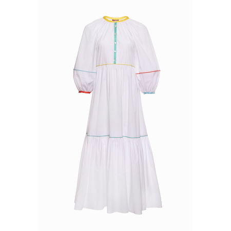 Staud Demi Dress - White/Multi