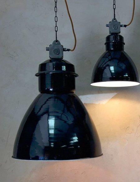 Nkuku Okello Small Industrial Pendant Light - Black