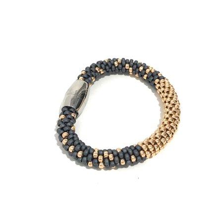 Jill Cribbin Stardust Bracelet - Grey/Rose Gold
