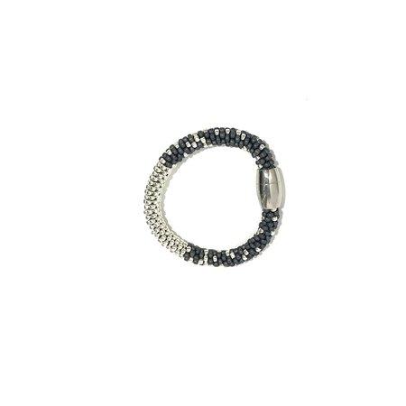 Jill Cribbin Stardust Bracelet - Grey/Sterling Silver