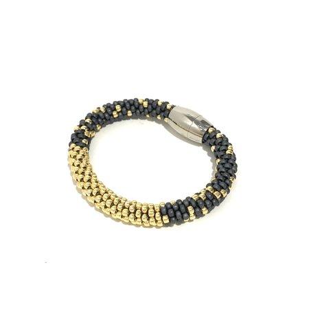 Jill Cribbin Stardust Bracelet - Grey/Yellow Gold