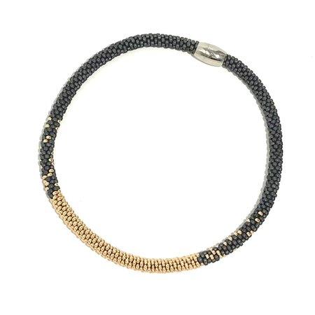 Jill Cribbin Stardust Necklace - Grey/Yellow Gold