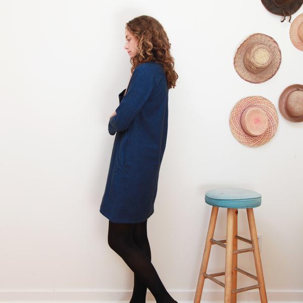 Me & Arrow Fuzzy Dress - Fuzzy Heather Navy