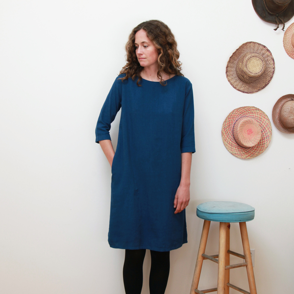 Me & Arrow 3/4 Sleeve Tall Dress - Deep Ocean