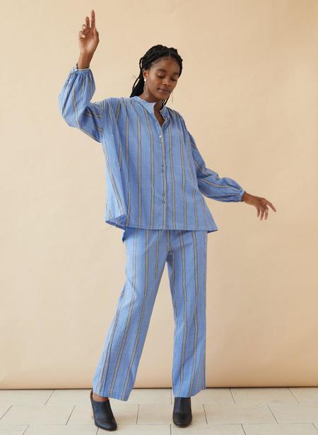 Seek Collective Artist Shirt - Blue Sky Stripe