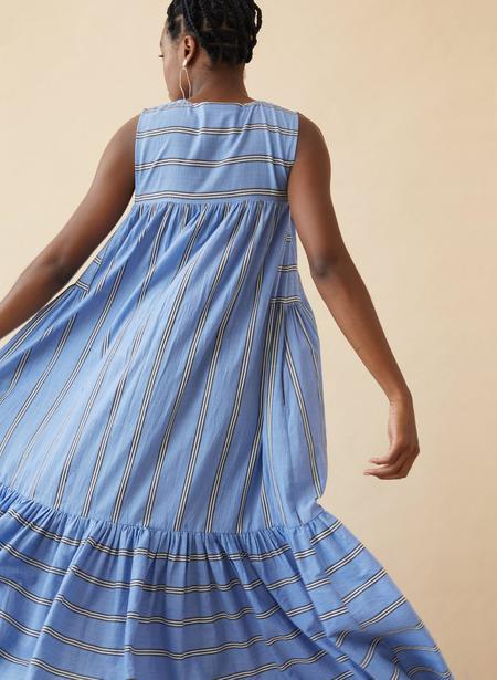 Seek Collective Stevie Dress - Blue Sky Stripe