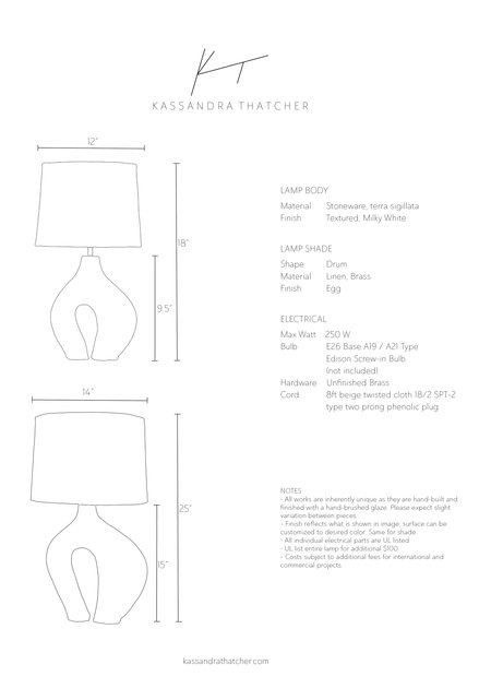 Kassandra Thatcher Hepworth Lamp