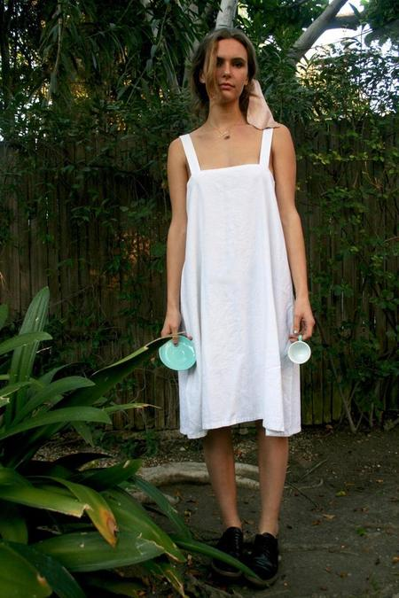 Lotte99 Linen Pillowcase Gown - White