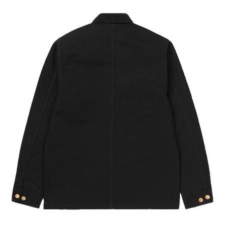 CARHARTT WIP Aged Canvas Michigan Coat - Black Rinsed