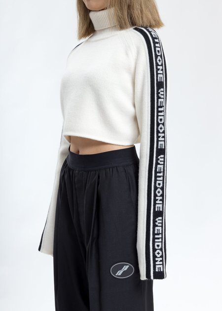 we11done Side we11done Crop Turtle Neck - White