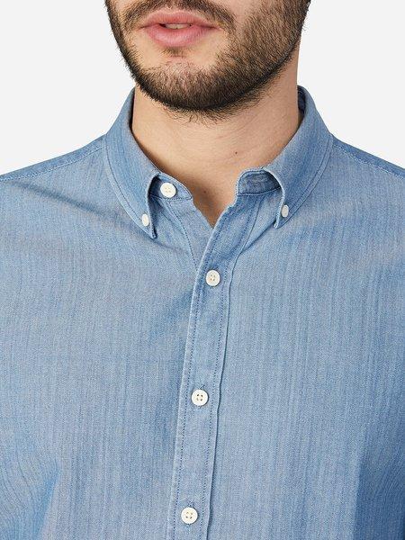 O.N.S Herringbone Fulton Shirt - Light Indigo