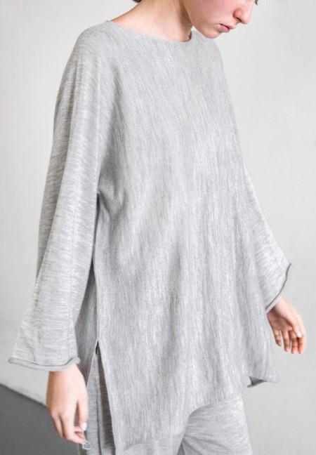 Lauren Manoogian Horizontal Tunic - Light Grey