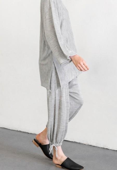 Lauren Manoogian Draw Pant - Light Grey