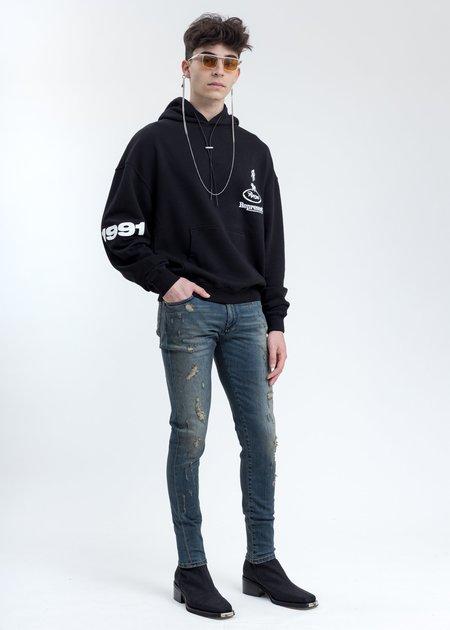 Represent Repaired Denim Jeans - Indigo