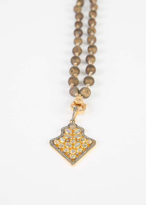 Jewels by Piper Gold and Diamond Pendant Necklace