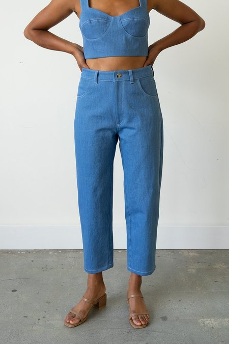 Waltz Carrot Jean - French Blue Denim