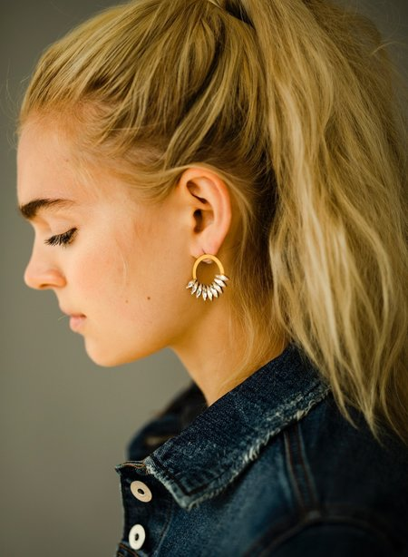 Elizabeth Cole Frederica Earrings - Glow