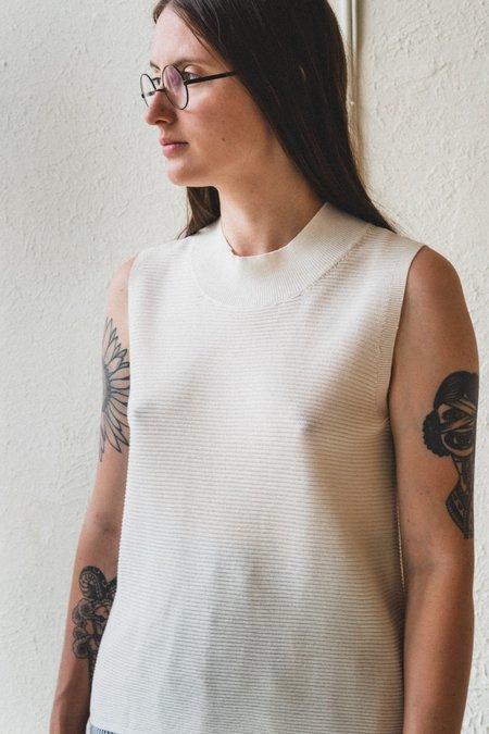 Factory Washi/Cotton Sleeveless Knit - White