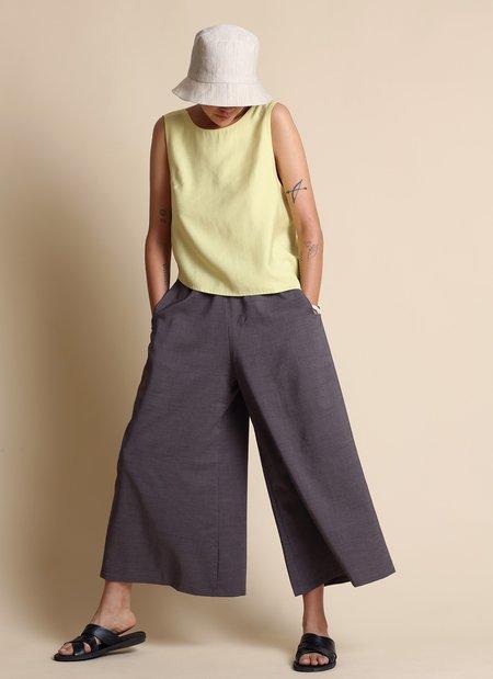 KAAREM Stamen Cropped Pocket Pant w/ Elastic - Charcoal