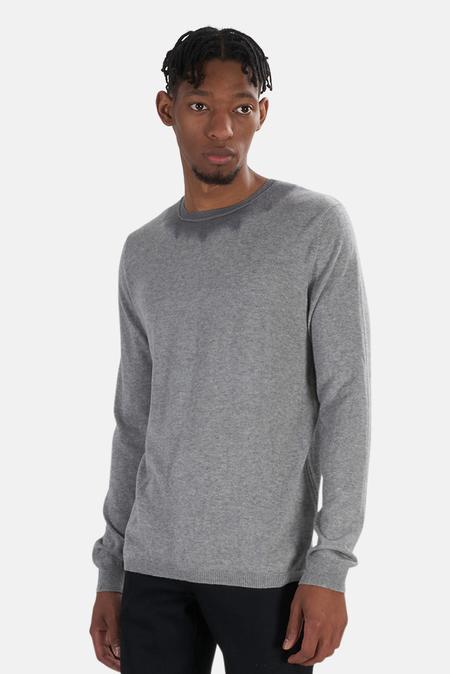 Blue&Cream Dip Dyed Crew Sweater - Grey