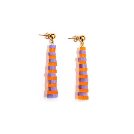 Wasted Effort Rock Candy Earrings - Orange Blossom